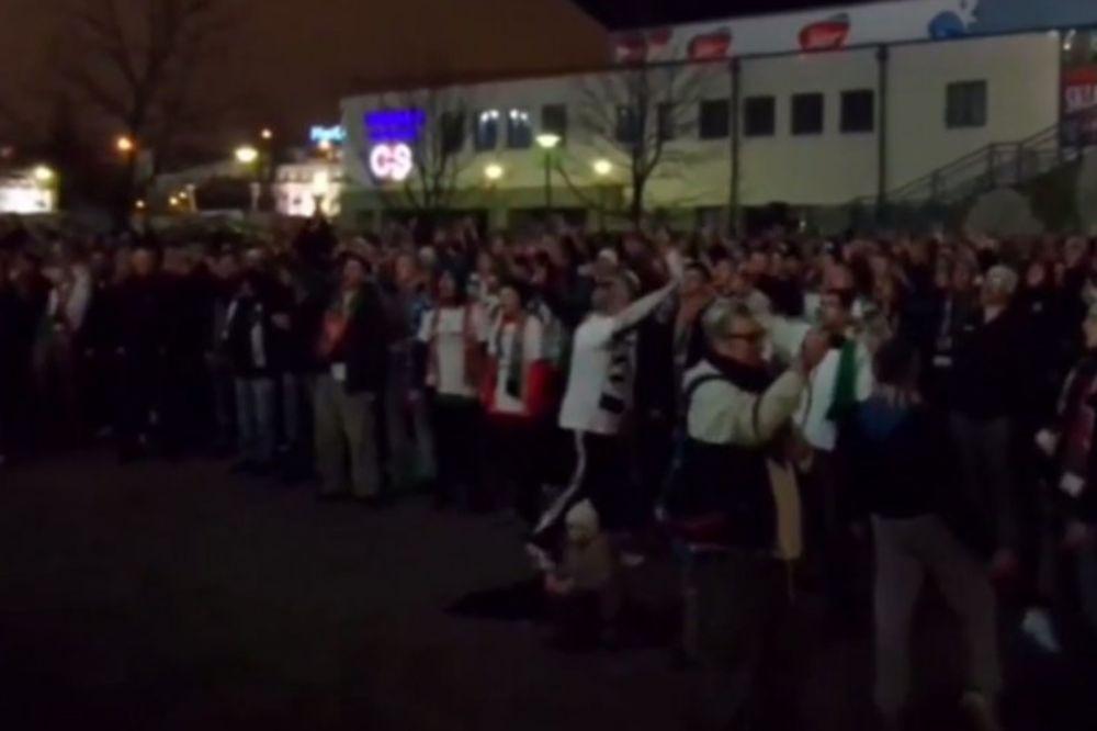 (VIDEO) TO JE ODANOST KLUBU: Nekoliko hiljada navijača Legije ispred praznog stadiona