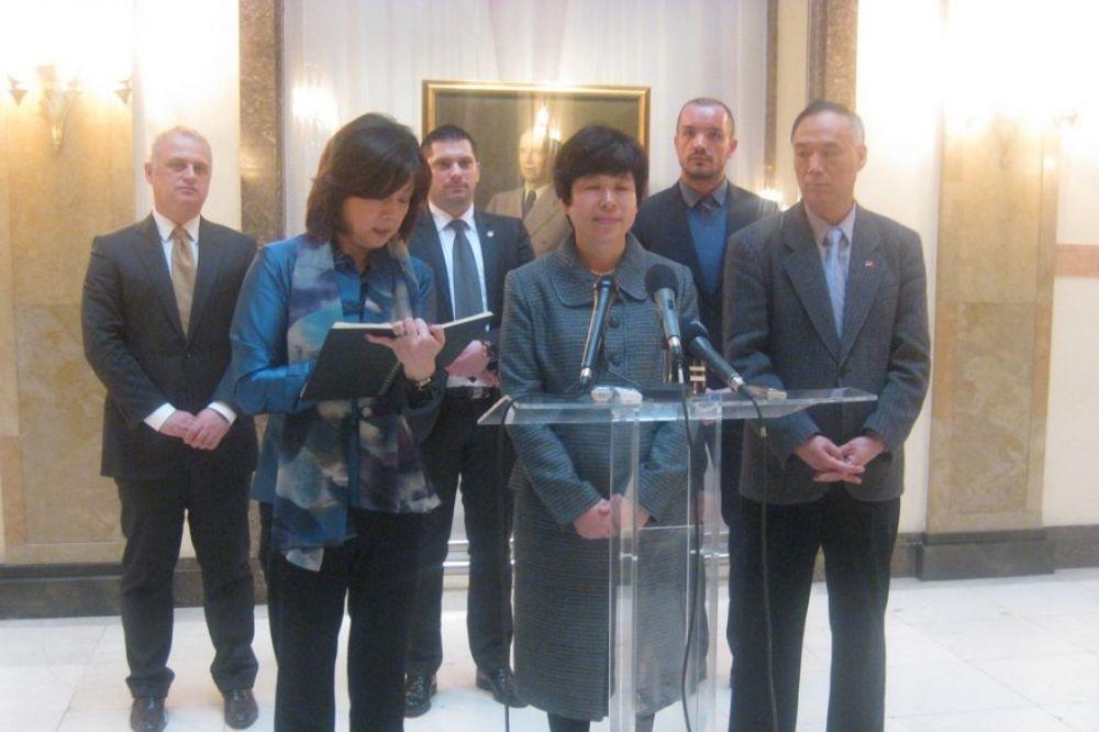 PRIJEM U STAROM DVORU: Kineskoj delegaciji predstavljeni projekti Beograda