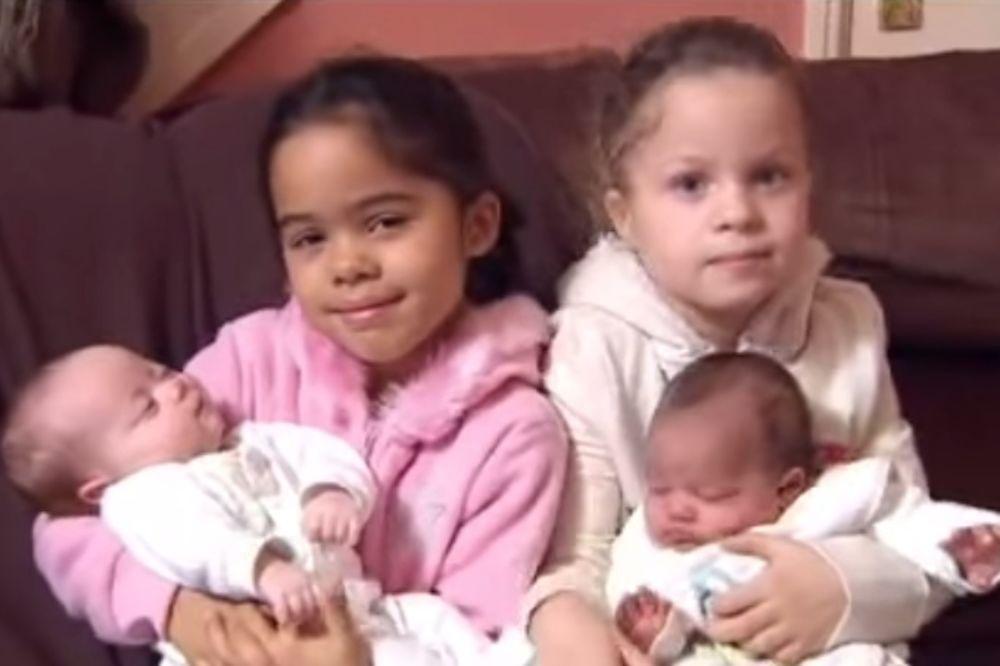 (VIDEO) PRAVA RETKOST: Britanski par dva puta dobio različite blizance!