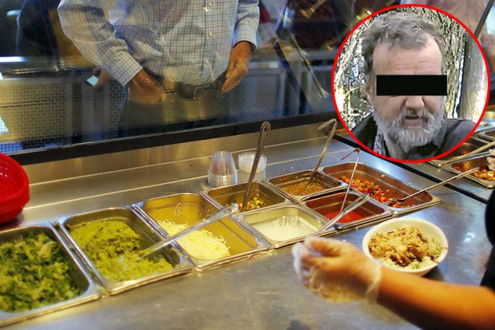 RAZMAŽENI UBICA: Ogadilo mu se meso od kada je iskasapio cimera, zahteva samo organsko povrće!
