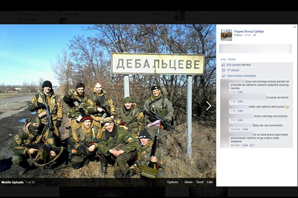 (FOTO) NAORUŽAN DO ZUBA: Počuča se slikao sa srpskim dobrovoljcima kod Debaljceva