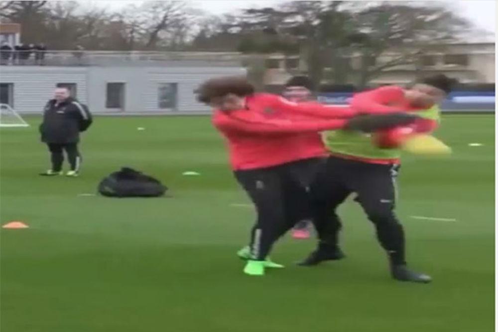 (VIDEO) David Luiz nokautirao Zlatana Ibrahimovića na treningu PSŽ-a