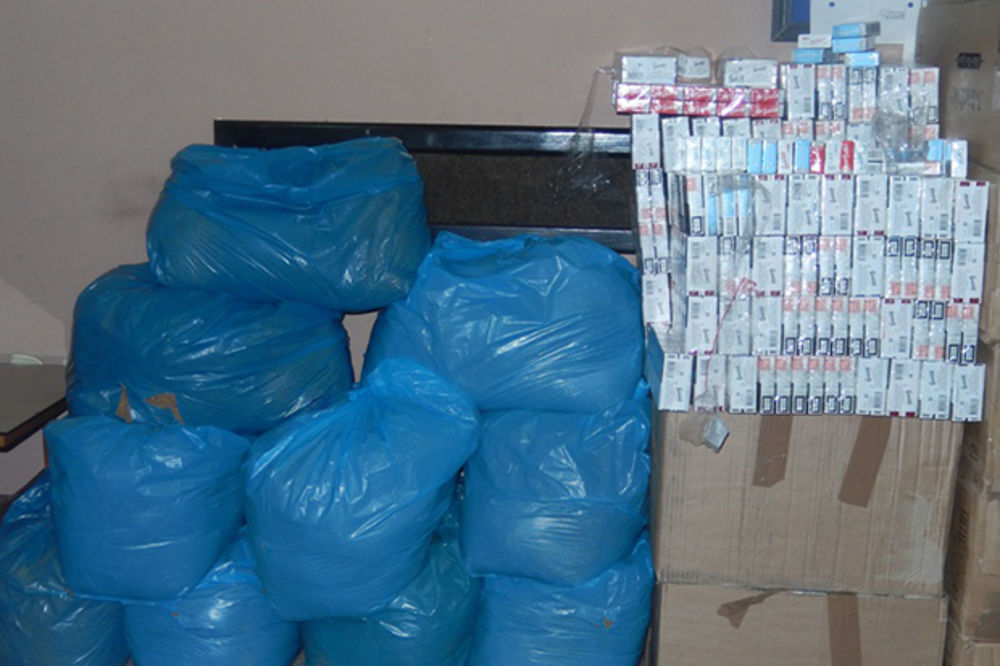 RAŠKA: Zaplenjeno 2.536 paklica cigareta i 90 kg rezanog duvana