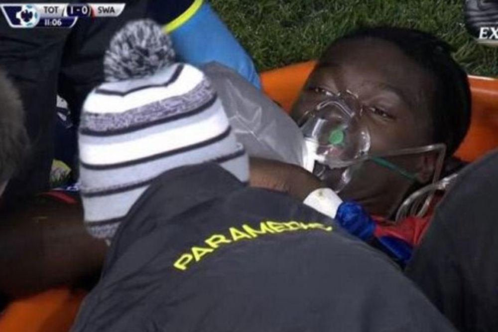 (VIDEO) DRAMA NA VAJT HART LEJNU: Fudbaler Svonsija se onesvestio na terenu
