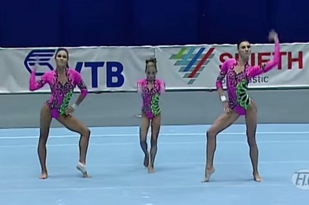 (VIDEO) ZASLUŽENO PRVO MESTO: Gimnastičarke plesom oduševile svet!
