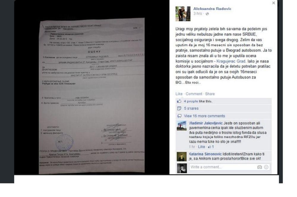 TVITER PRIČA: Detetu od 16 meseci u uputu napisali da samo putuje autobusom za Beograd!