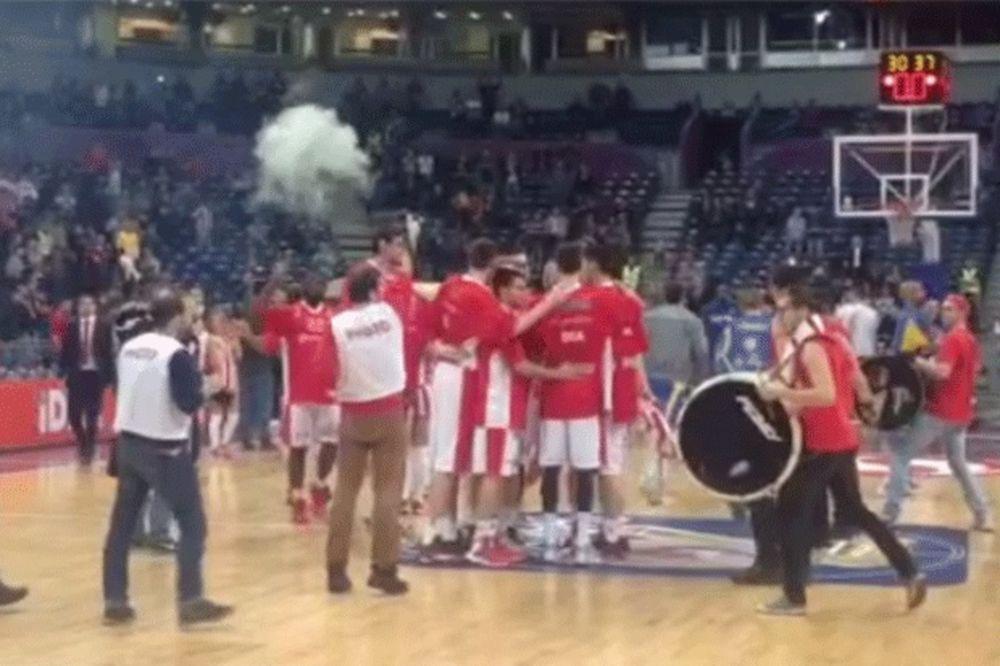 (VIDEO) Pogledajte kako su bubnjari najavili izlazak Zvezdinih košarkaša