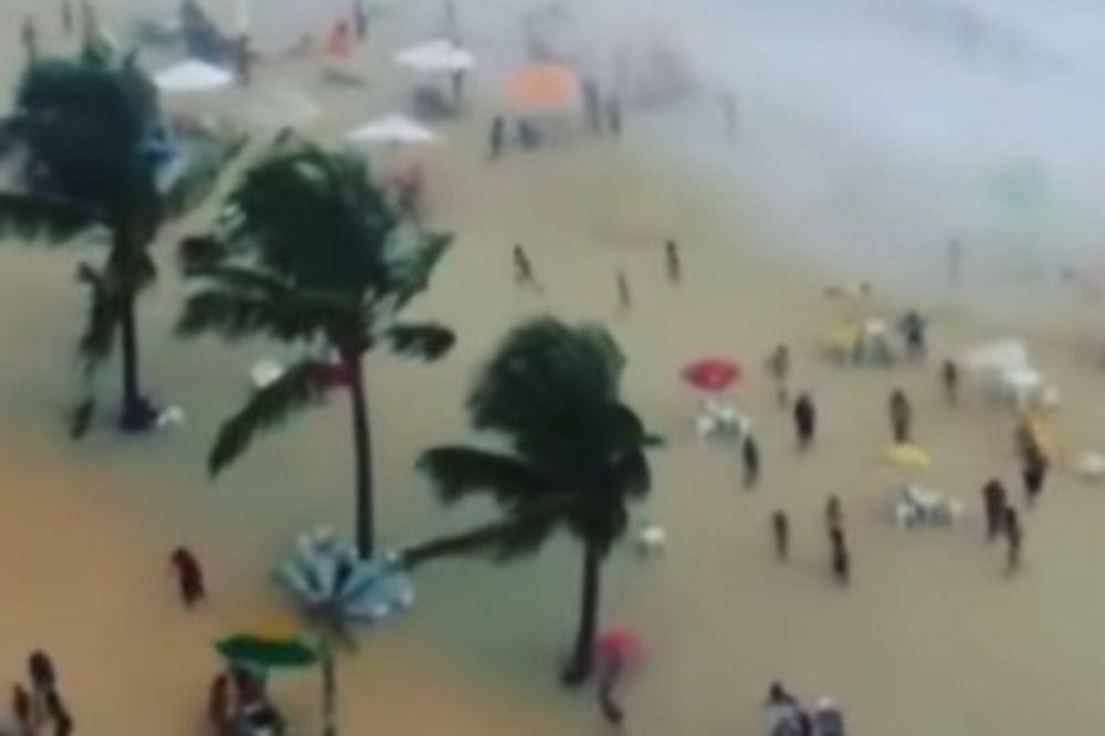 (VIDEO) OVO NIKO NIJE OČEKIVAO: Uživali su na plaži, u trenutku nastao je haos!
