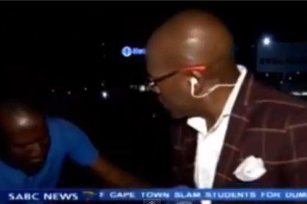 (VIDEO) SVAŠTA SE DESI U PROGRAMU UŽIVO: Novinar opljačkan u direktnom prenosu