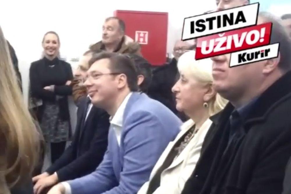 (KURIR TV) Vučić na otvaranju vrtića Zvončica u Obrenovcu