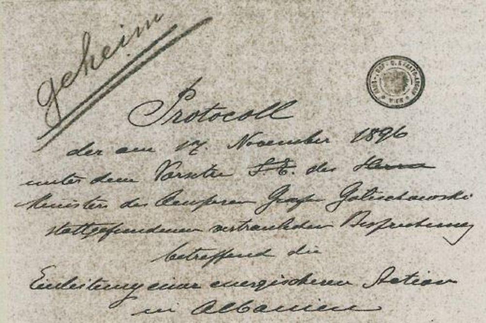 Tajni protokol sa sastanka na austrougarskom dvoru novembra 1896.