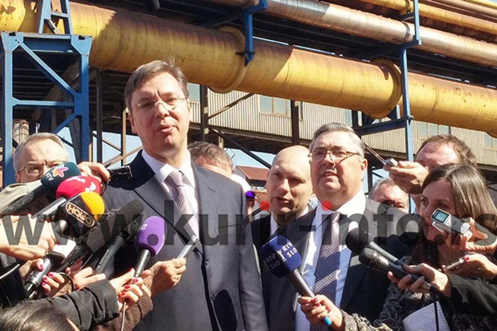 Vučić: Novi menadžment Železare startuje od ponedeljka