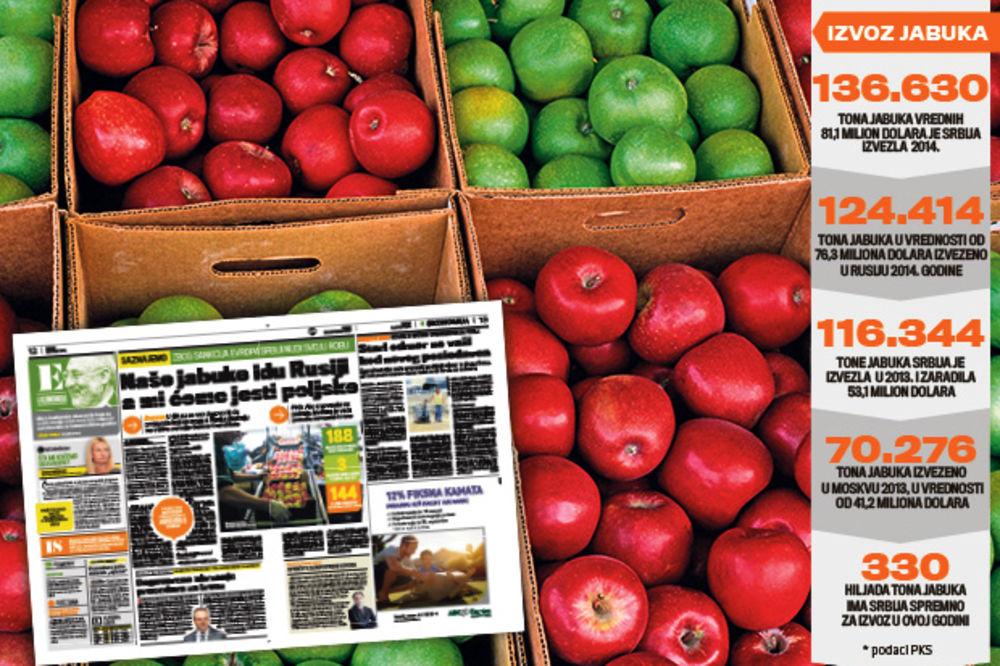 PRETNJA: Rusi nam uvode embargo zbog poljskih jabuka?
