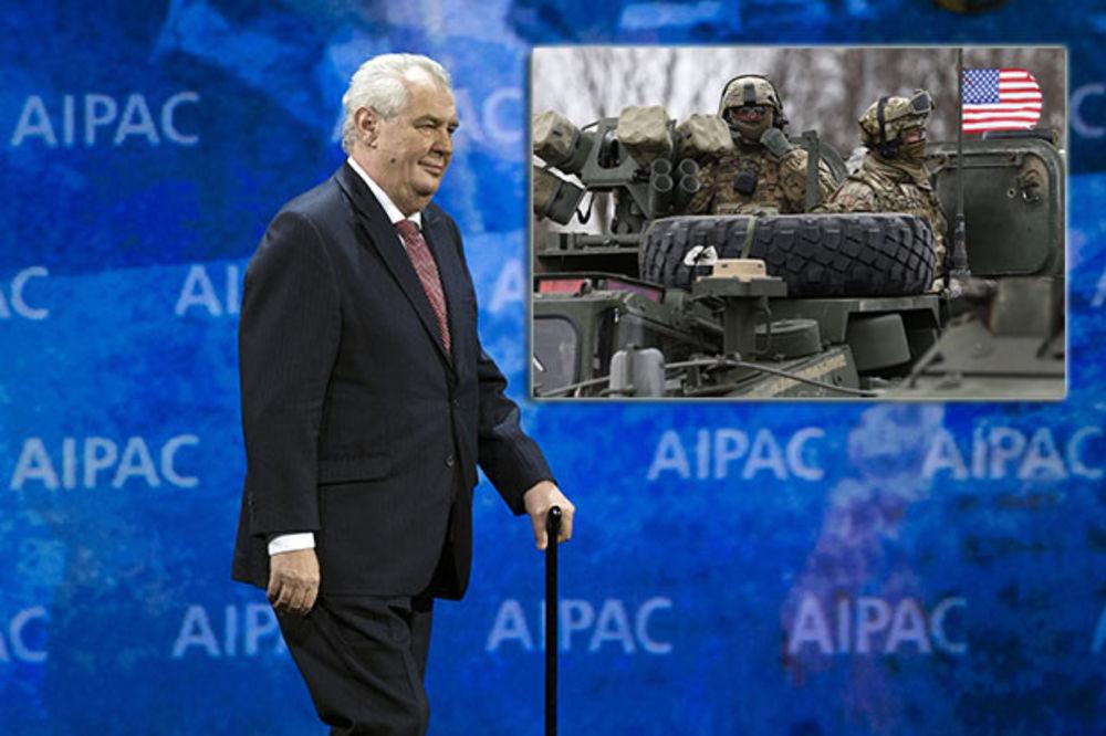 ZEMAN MOLI ČEHE DA NE GAĐAJU PARADAJZOM VOJNIKE: Zemljaci, američki konvoj nije okupaciona vojska!
