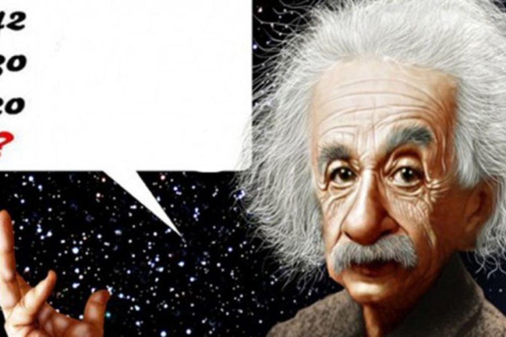 AJNŠTAJNOVA ZAGONETKA: Ako ste genije, rešićete ovo za tri minuta!