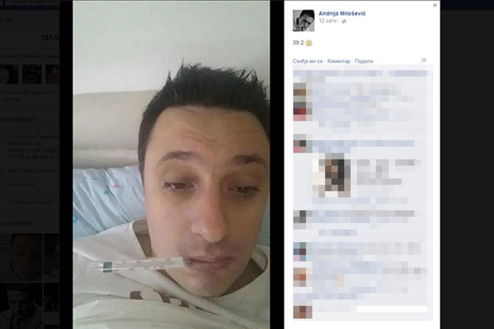 NAPAO GA VIRUS: Andriju Milošević grip prikovao za krevet!