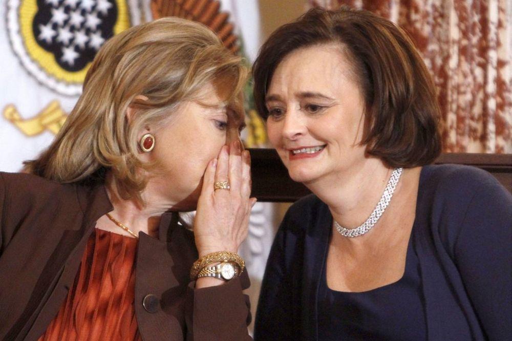 Hilari Klinton i Čeri Bler iz vremena kad su bile u vrhu vlasti (Foto: AP)