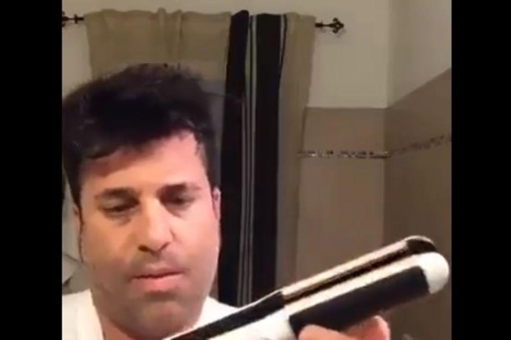(VIDEO) HIT NA FEJSBUKU MUŠKA LEKCIJA: Devojke, ovako se koristi pegla za kosu!