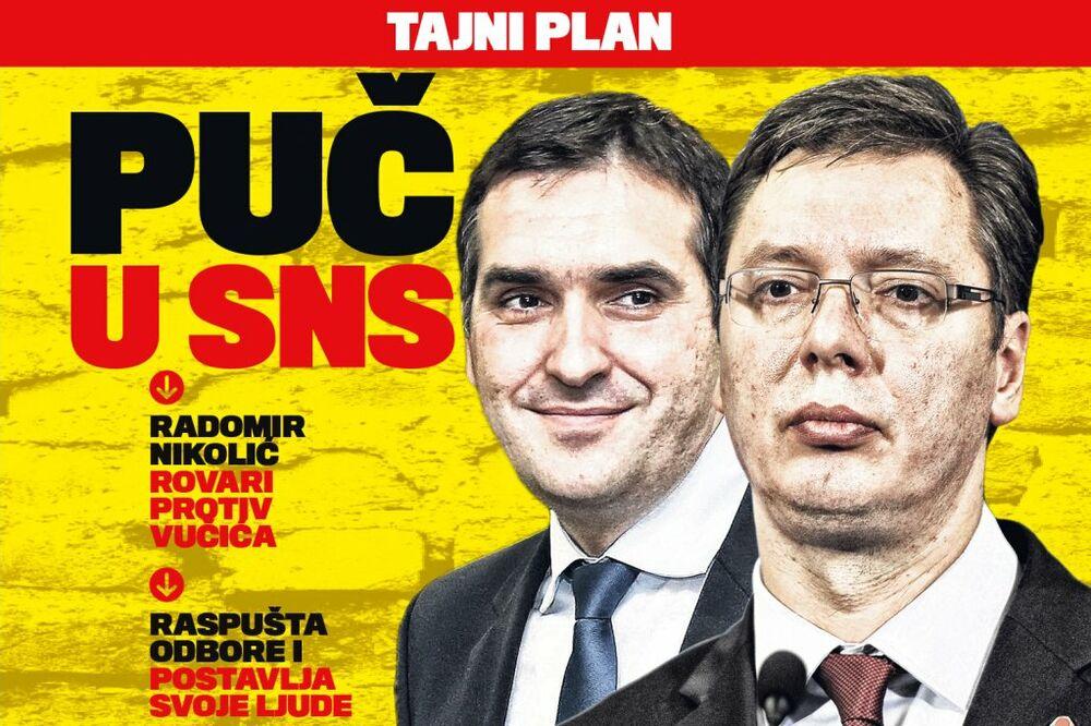 DANAS U KURIRU PUČ U SNS: Radomir Nikolić rovari protiv Vučića!