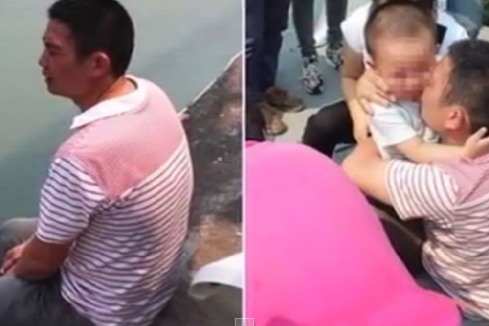 (VIDEO) DEČAK (2) PREKLINJAO OCA DA SE NE UBIJE: Tatice, ne skači, molim te!