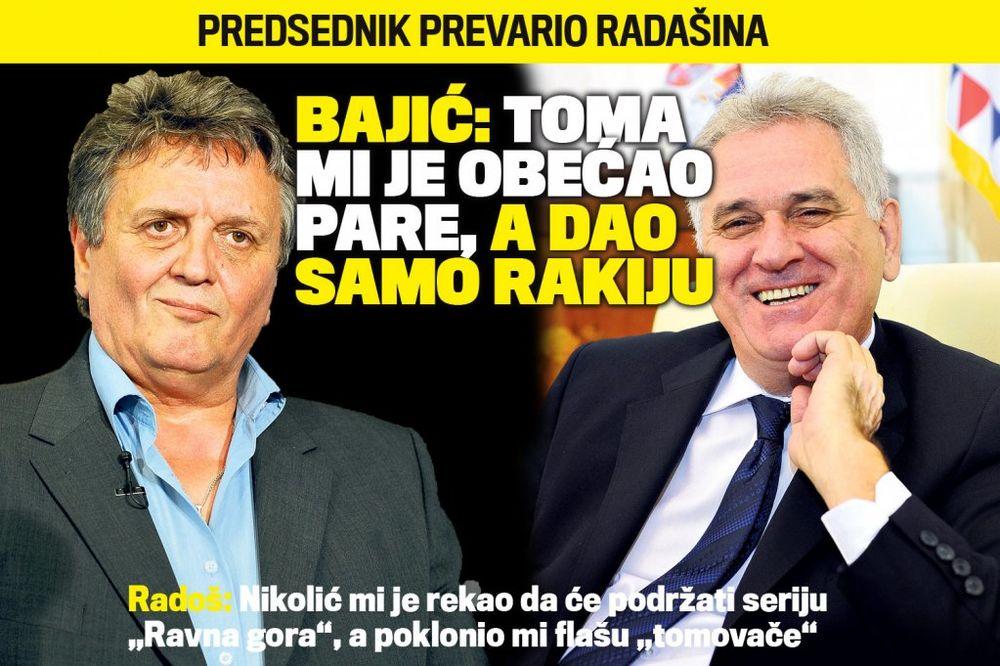 DANAS U KURIRU Radoš Bajić: Nikolić mi je obećao pare za seriju, a dao mi samo rakiju!