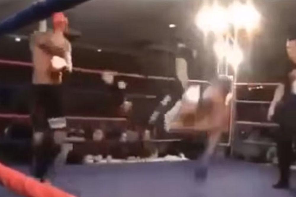 (VIDEO) OVAKAV NOKAUT JOŠ NISTE VIDELI: Patorisao protivnika, a nije ga ni pipnuo!