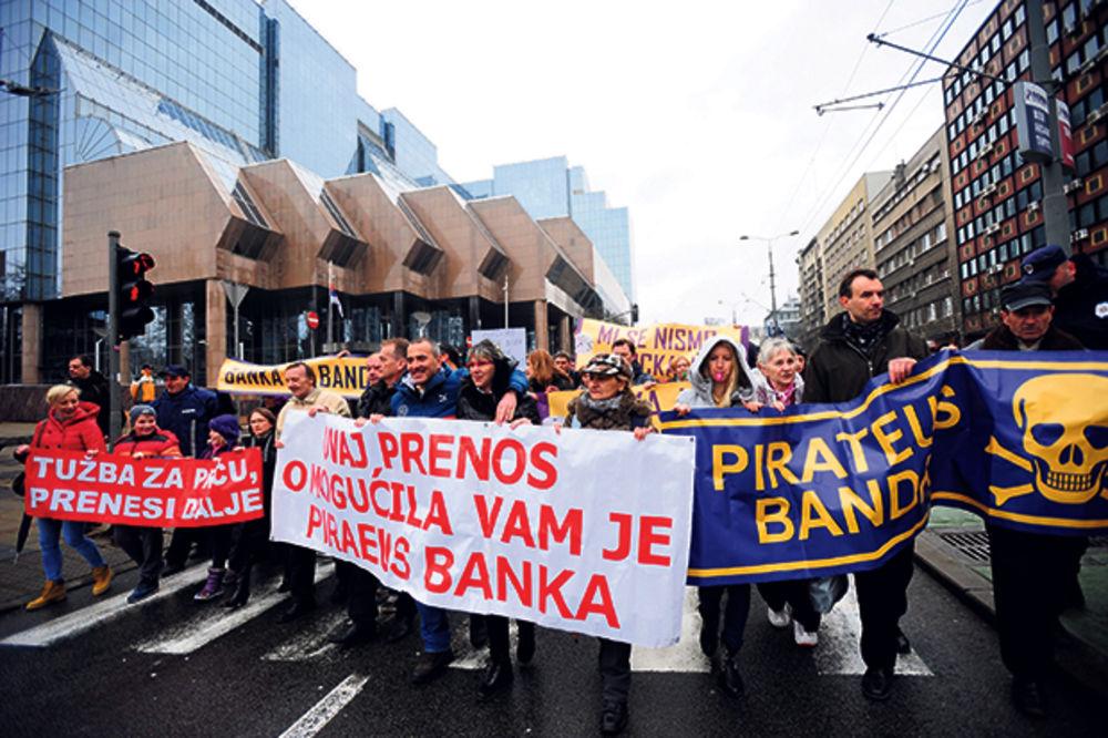 KUPIŠ STAN PLAĆAŠ TRI: Protest zaduženih u švajcarskim francima