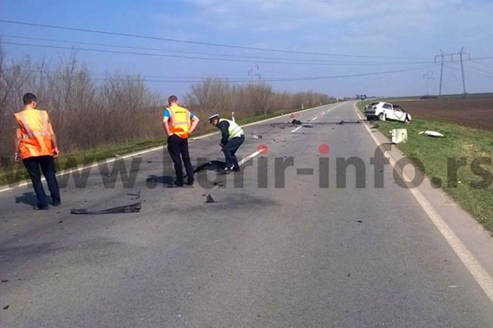 SUDAR GOLFA I KAMIONA NA PUTU ZA ZRENJANIN: Vozač automobila poginuo na licu mesta!