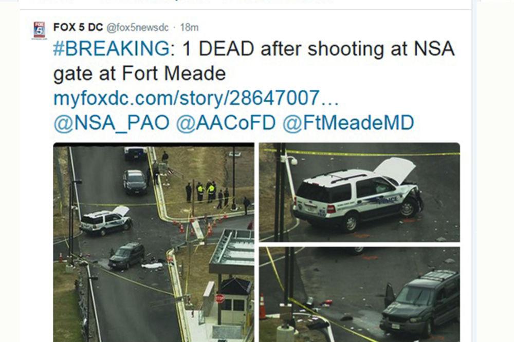 NAPAD NA AMERIČKU NSA: Vozilom probili kapiju, ubijena jedna osoba!