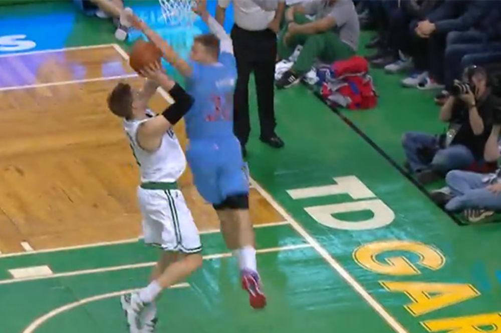 (VIDEO) SPEKTAKULARNO: Blokada o kojoj priča ceo košarkaški svet