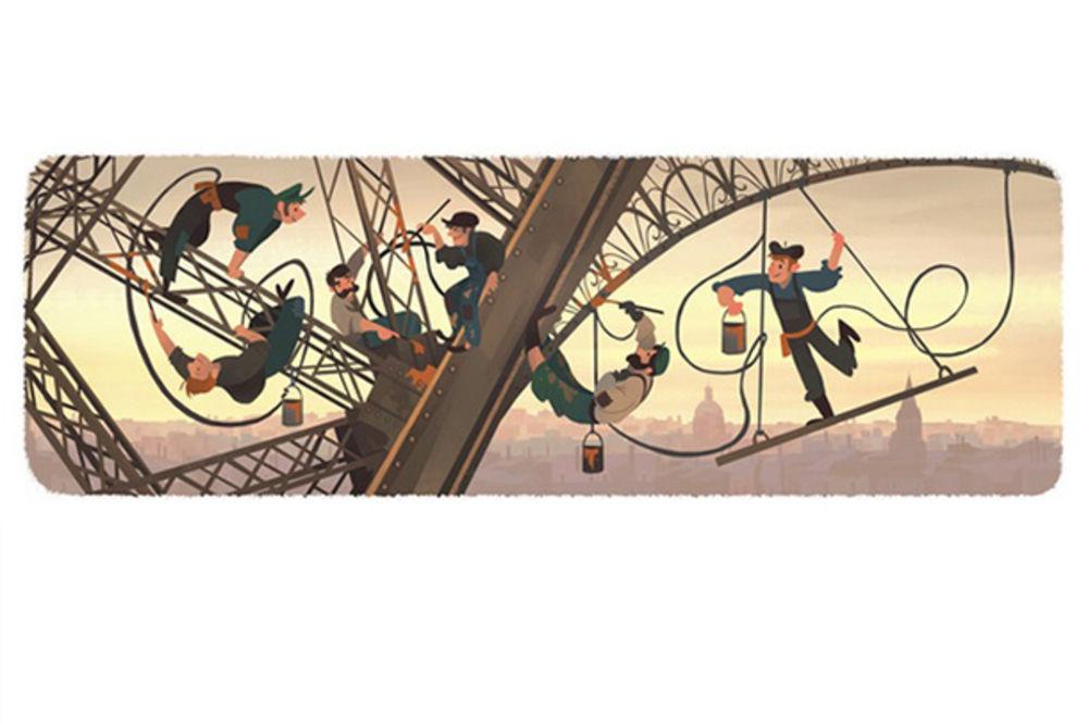 U ČAST GRAĐEVINSKOG ČUDA: Gugl u znaku 126 godina Ajfelovog tornja