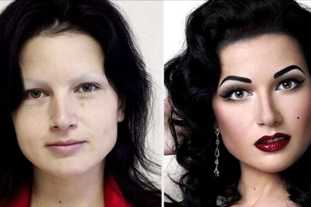 (VIDEO) ŠMINKA ČINI ČUDA: Nećete verovati da su u pitanju iste žene