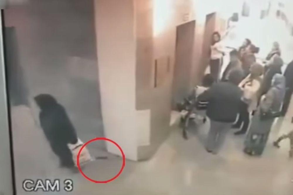 (VIDEO) KULTURO, GDE SI: Primećujete li šta je čudno kada se žena pomeri od zida