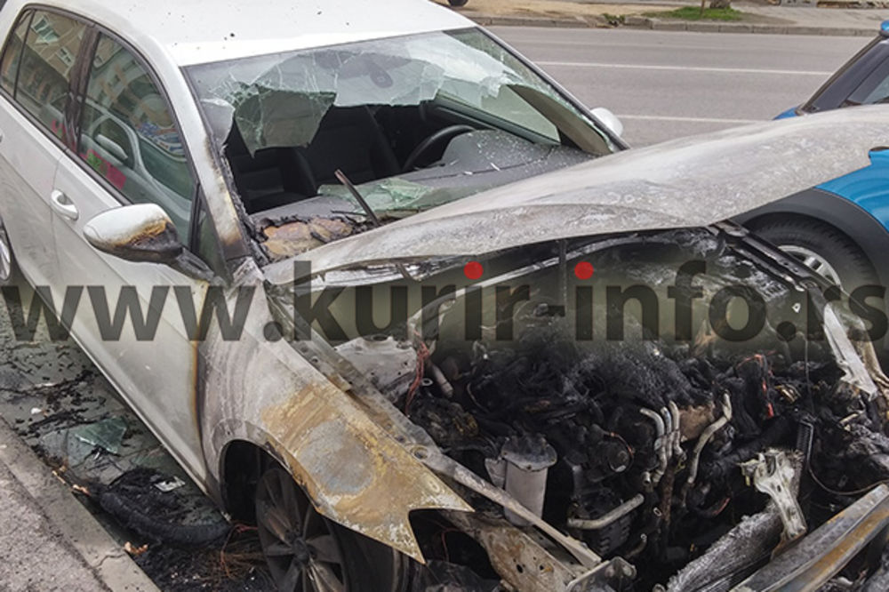 FOTO VIDEO NS: Opet zapaljen auto funkcionera SPS Darka Jevtića