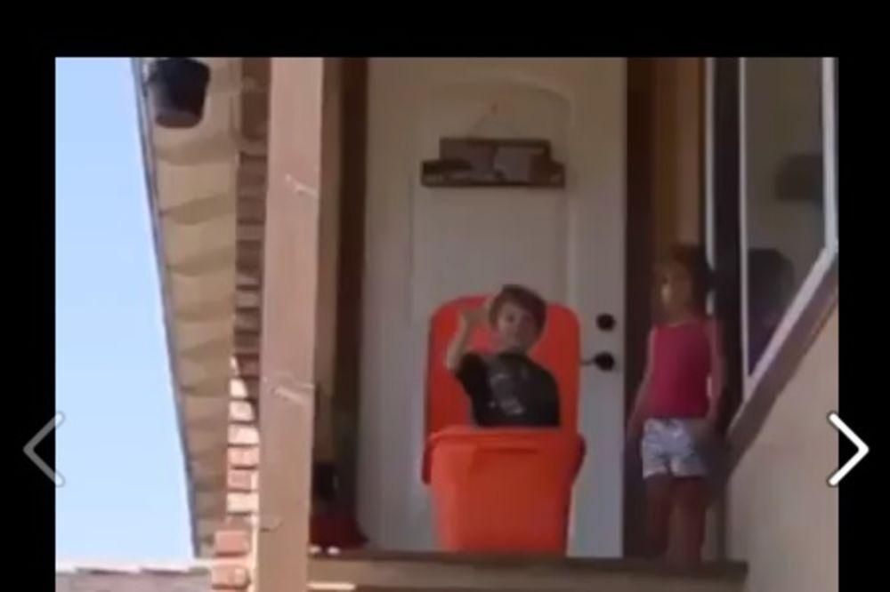 (VIDEO) DA VAM SRCE STANE: Dečija igrarija koja je mogla da se završi stravično