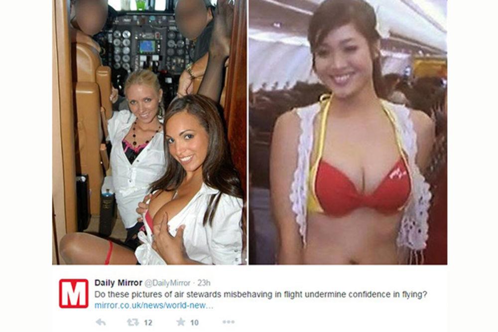 SEKSI STJUARDESE: Razvratnim fotografijama otkrile šta se zapravo događa tokom leta!