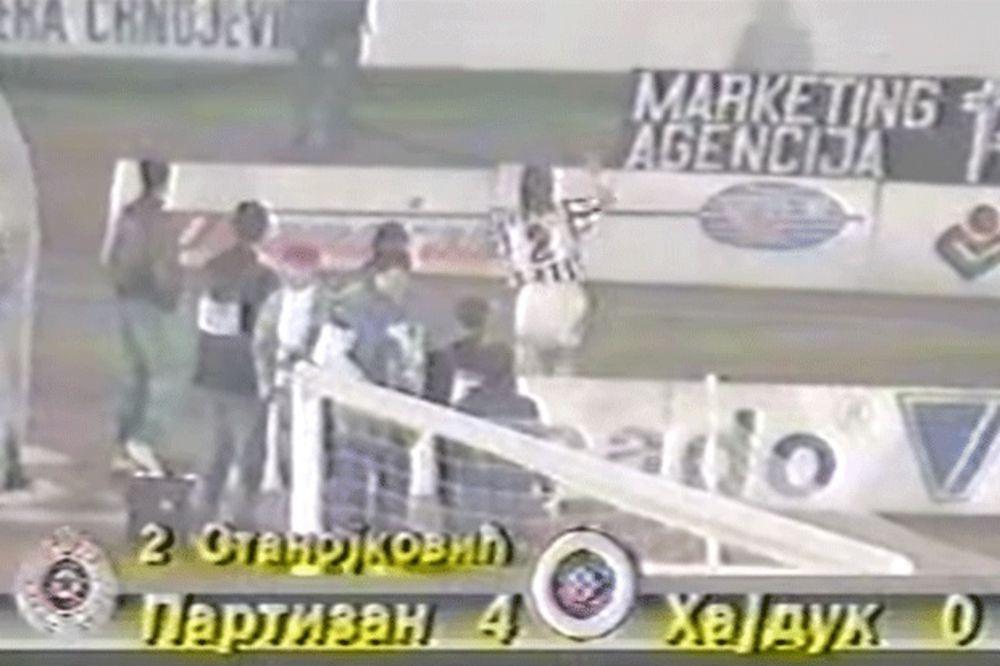 (VIDEO) Partizan pregazio splitski Hajduk u njihovom poslednjem duelu pre raspada SFRJ