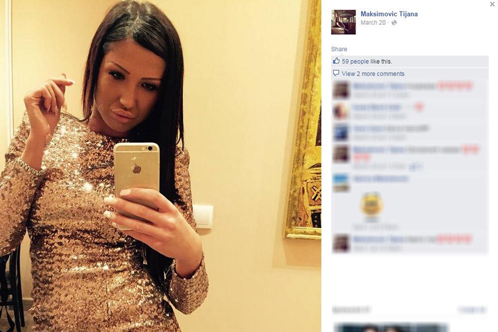 Tijana Ajfon, parovi, foto printskrin FB