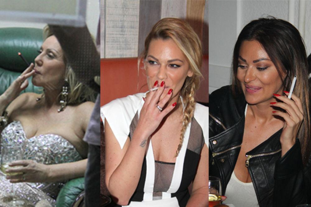(FOTO) POROČNA ESTRADA: One ne vade cigarete iz usta!