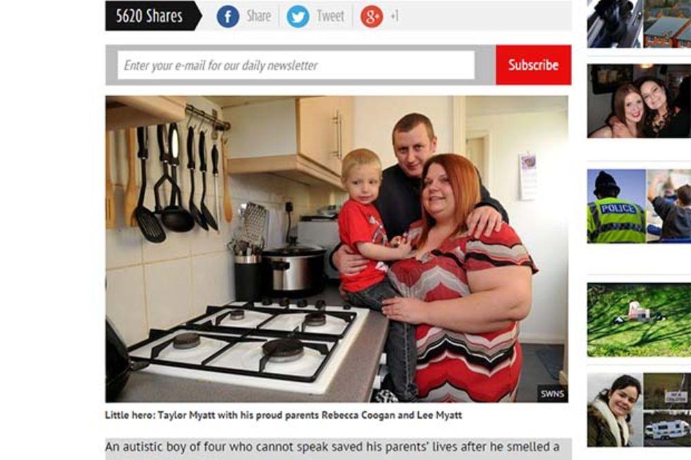 MALI HEROJ: Autistični dečak (4) spasao sebe i roditelje od sigurne smrti!