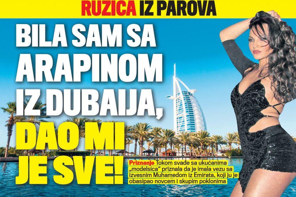 DANAS U KURIRU AFERA HAREM Ružica iz Parova: Bila sam sa Arapinom iz Dubaija, dao mi je sve!