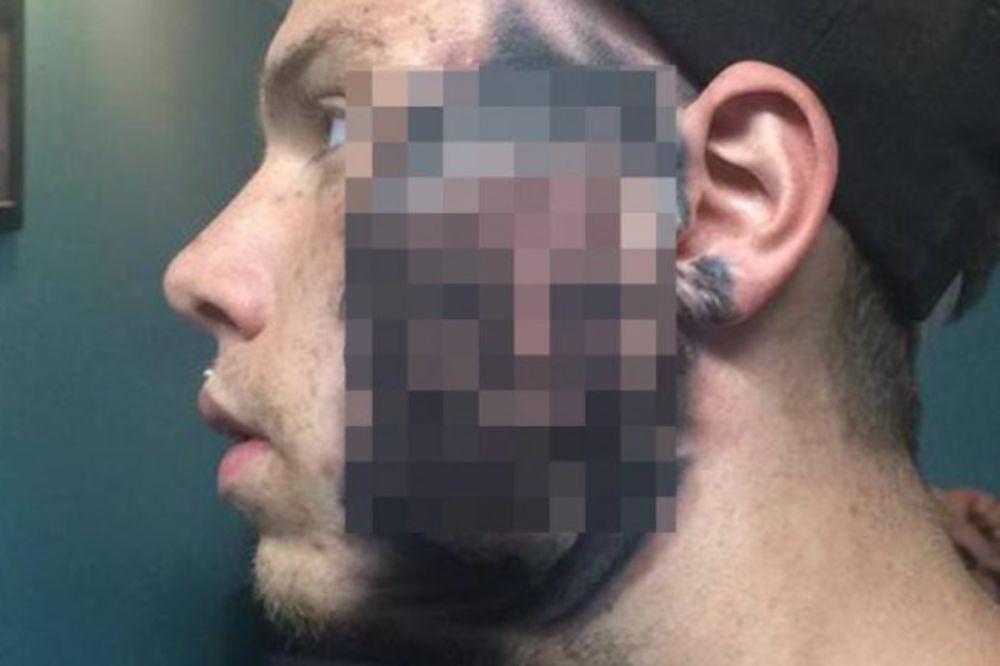 DA LI BISTE VI URADILI OVAKO NEŠTO? Nećete verovati šta je ovaj čovek istetovirao na licu!