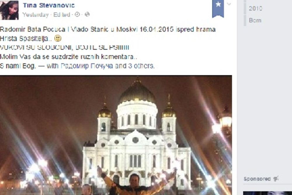 POČUČA SE SLIKAO U MOSKVI: Pobednička poza ispred Hrama Hrista Spasitelja!