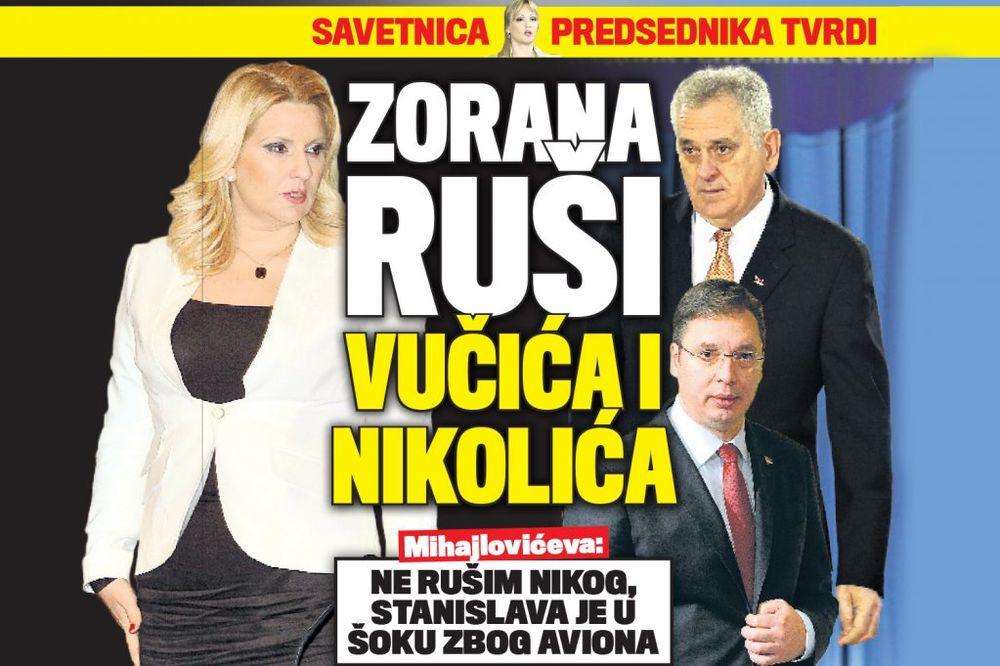 DANAS U KURIRU: Zorana Mihajlović ruši Vučića i Nikolića!