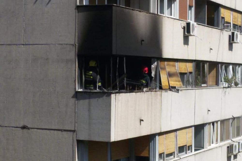 POŽAR NA NOVOM BEOGRADU: Izgorela kuhinja u Bulevaru Milutina Milankovića