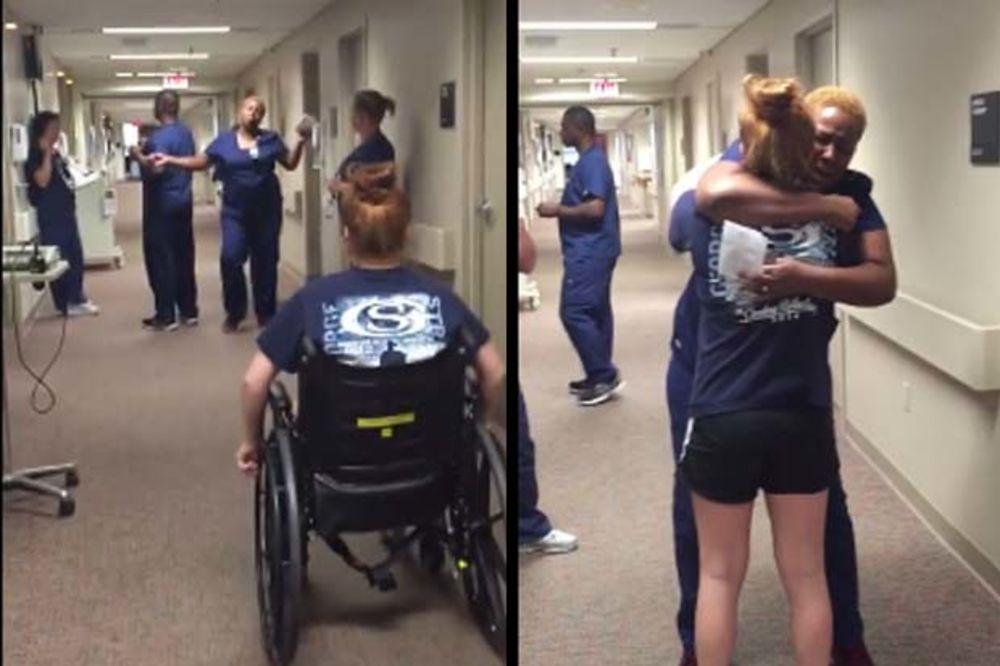 (VIDEO) BILA JE PARALISANA 11 DANA: Pogledajte zašto je medicinska sestra briznula u plač!