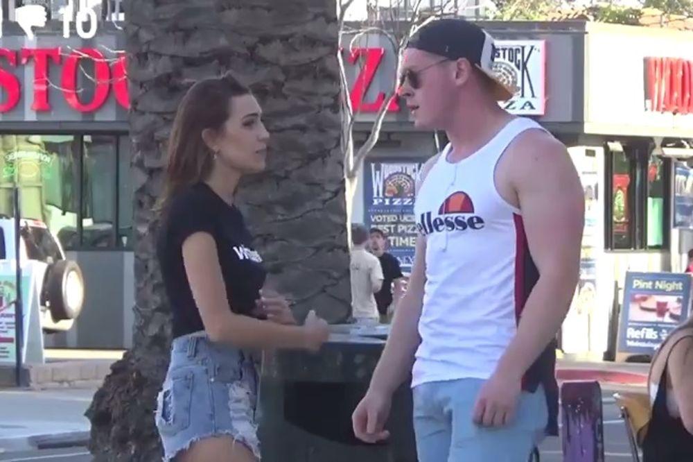 (VIDEO) Pitala je 100 muškaraca da li su za seks. Evo kako su oni reagovali