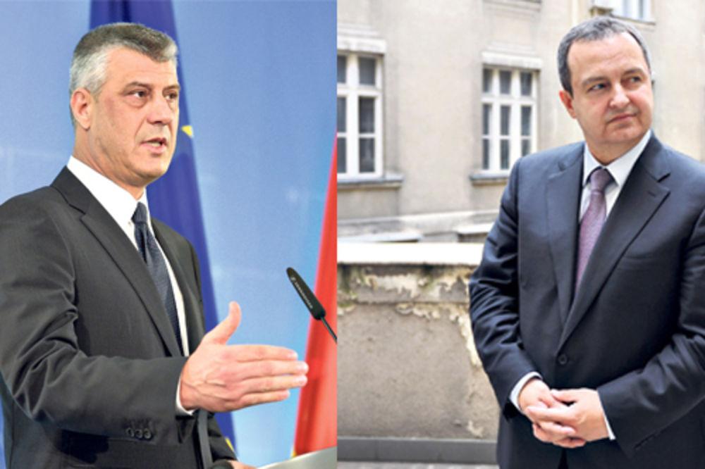 Tači: Srbijo, spremi se za posledice Dačić: Tači, pričaš gluposti!