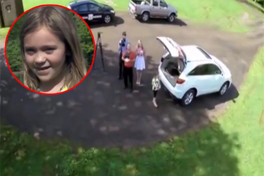 (VIDEO) POGLEDAJTE ŠPIJUNSKI SNIMAK: Paranoični otac prati ćerku u školu dronom!