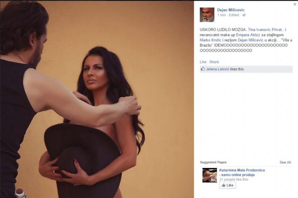 NESTAŠNA TINA: Ivanovićeva potpuno gola u novom spotu